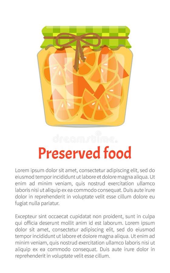 De Affiche Vectorillustratie van conservesinaasappelen royalty-vrije illustratie