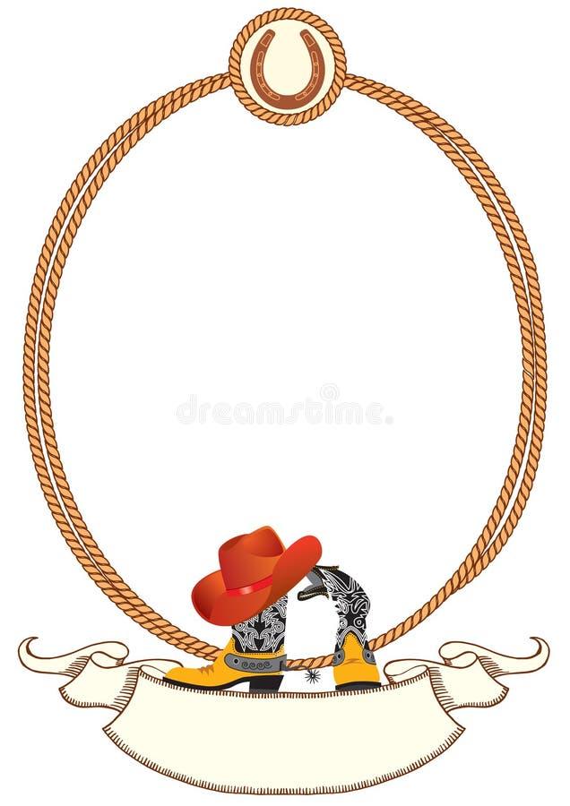 De afficheachtergrond van de cowboy stock illustratie