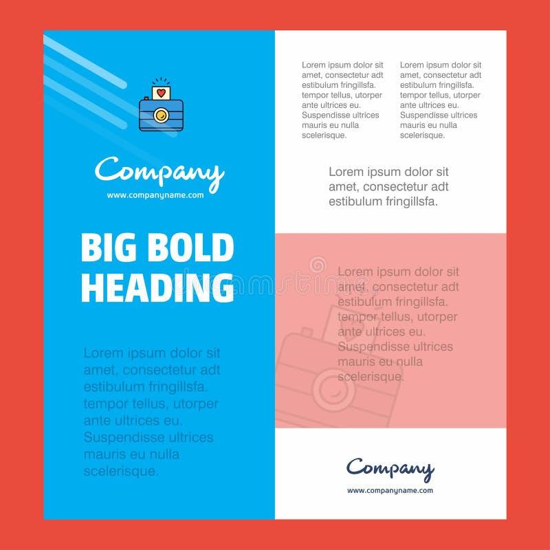 De Affichemalplaatje van het camerabedrijf met plaats voor tekst en beelden Het kan voor prestaties van het ontwerpwerk noodzakel royalty-vrije illustratie