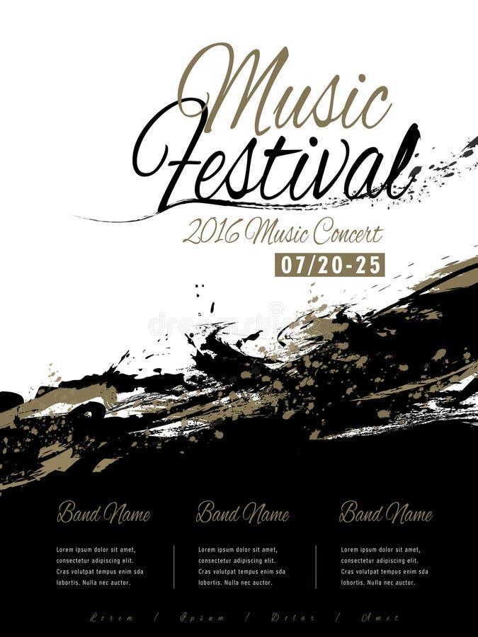 De afficheontwerp van het muziekfestival vector illustratie
