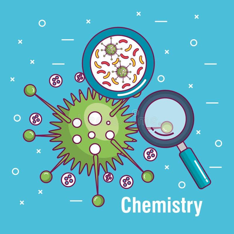 De affichepictogram van de chemiewetenschap royalty-vrije illustratie
