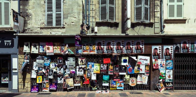 De affiches van het het theaterfestival van Avignon royalty-vrije stock foto