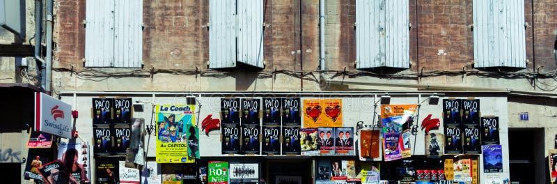 De affiches van het het theaterfestival van Avignon stock afbeelding