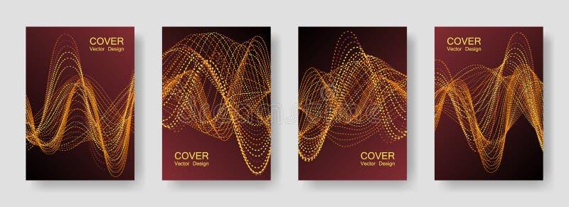 De Affiches van de muziekpartij met de Kleurrijke Equaliser van DJ stock illustratie