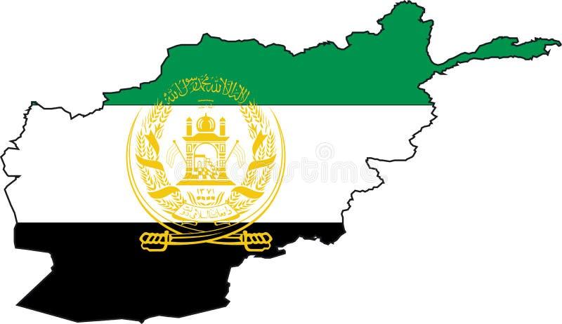 De Afghanistan-Vector van de kaart stock illustratie