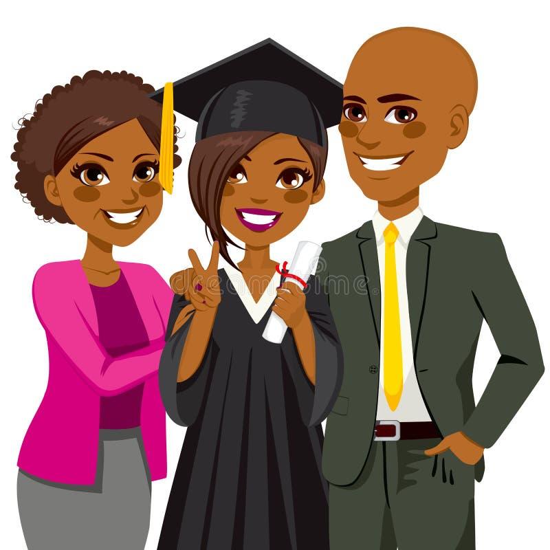 De Afrikaanse Amerikaanse Dag van de Familiegraduatie vector illustratie