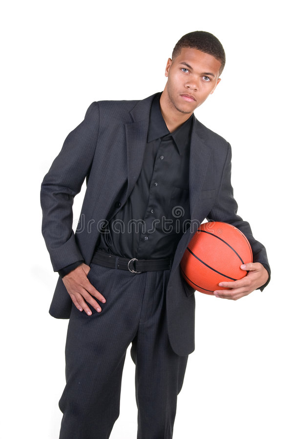 De Afrikaanse Amerikaanse Speler van het Basketbal stock foto