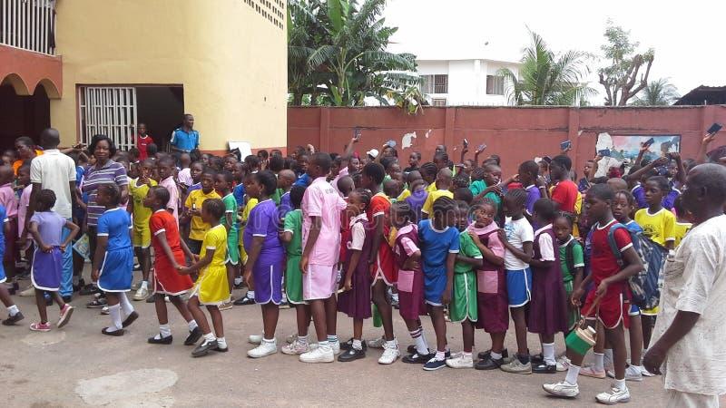 De Afrikaanse kinderen van de School stock afbeelding