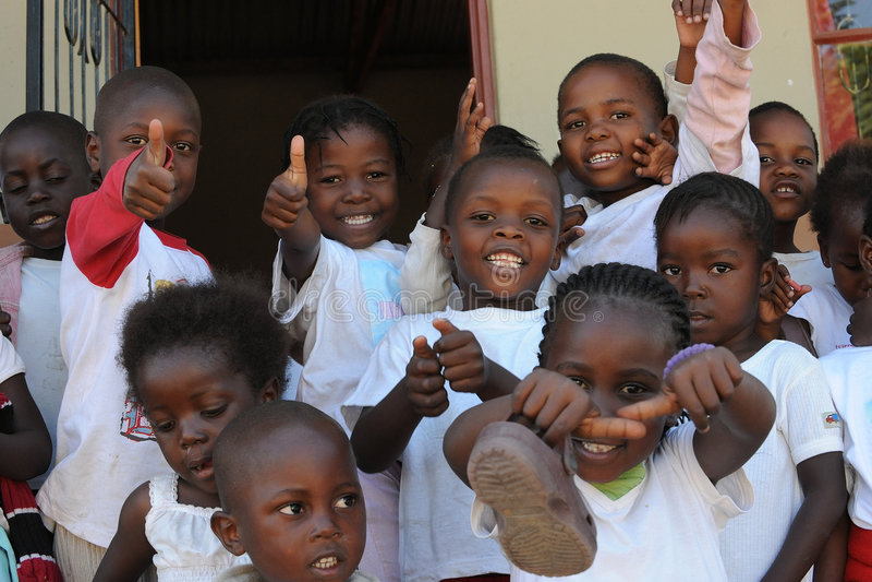 De Afrikaanse kinderen van de School