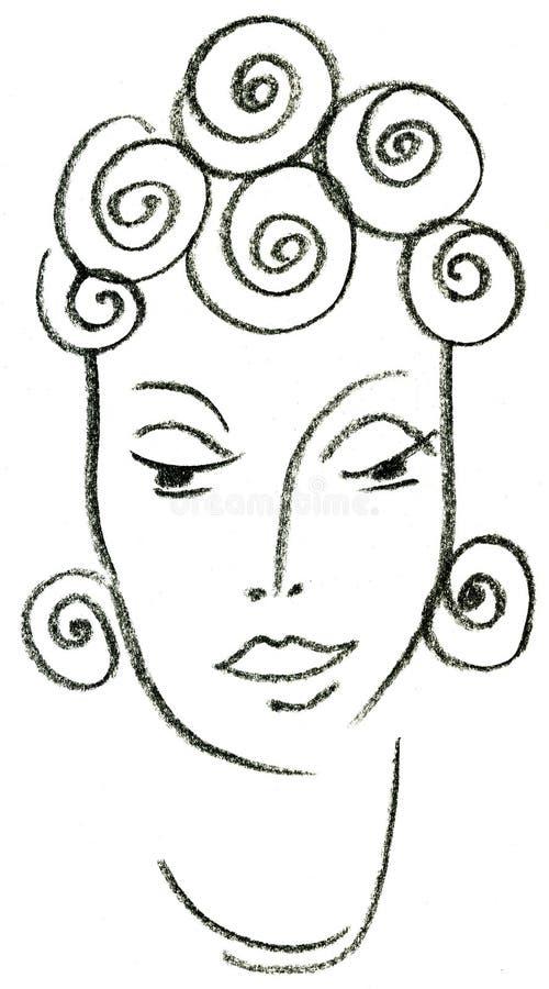 De Afrikaanse vrouw stock illustratie