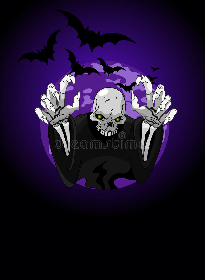 De afschuwelijke Onverbiddelijke Maaimachine van Halloween stock illustratie
