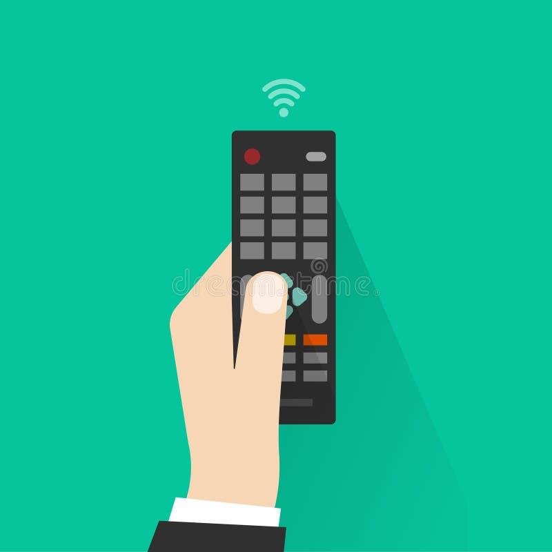 De afstandsbediening van de handholding van de vectorillustratie van TV stock illustratie