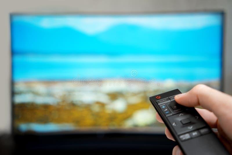 De afstandsbediening van de televisie royalty-vrije stock fotografie