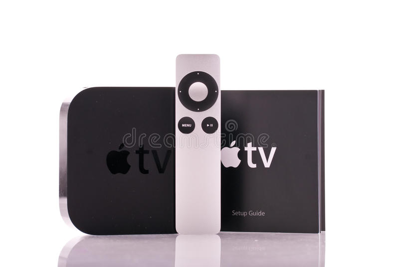 De Afstandsbediening van TV van de appel stock foto's