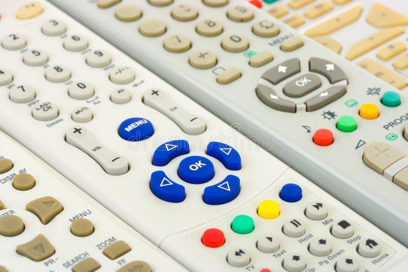 De afstandsbedieningen van TV royalty-vrije stock foto's