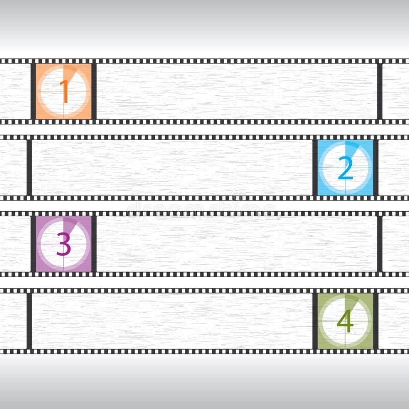 De aftelprocedure infographic ontwerp van de film royalty-vrije illustratie