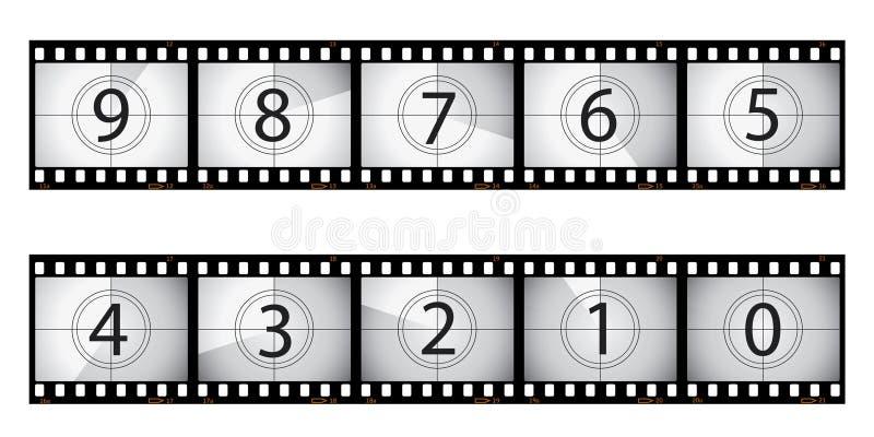 De aftelprocedure van de film stock illustratie