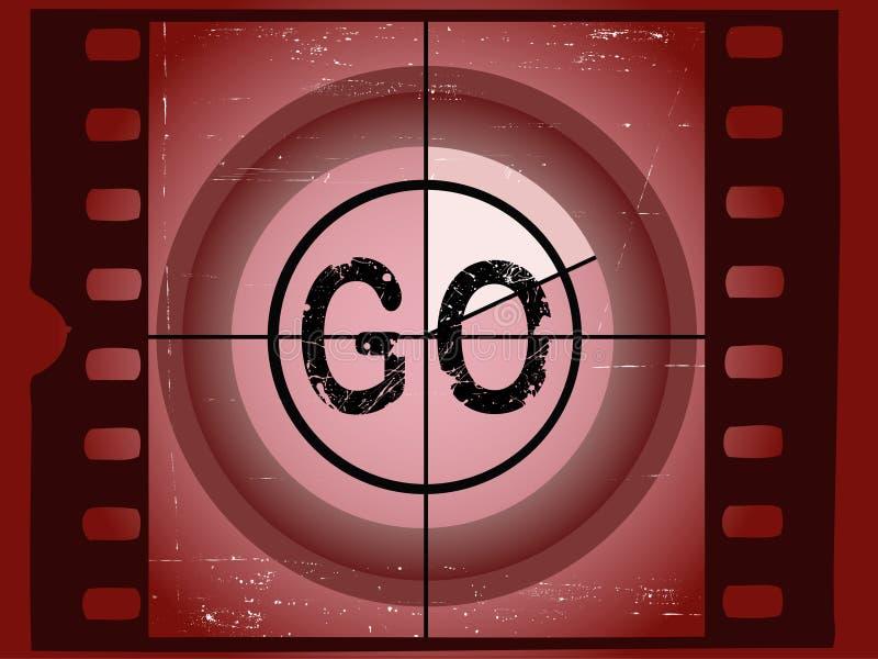 De Aftelprocedure van de film - ga stock illustratie