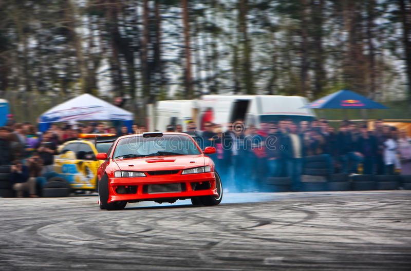 De afwijking van de raceauto stock fotografie