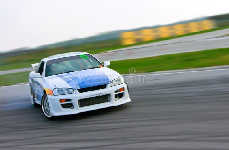 De afwijking van de raceauto royalty-vrije stock fotografie