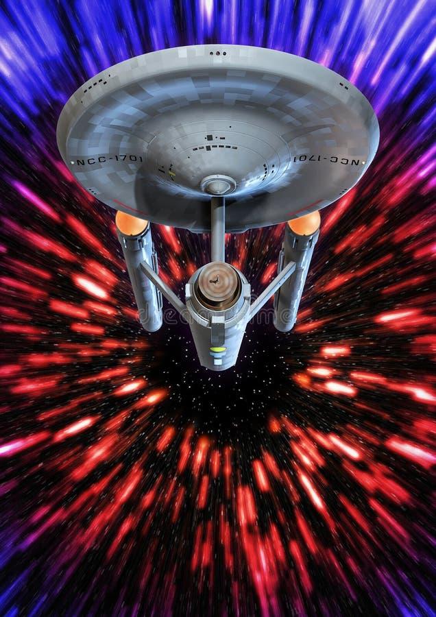 De afwijking van de Starshiponderneming royalty-vrije illustratie