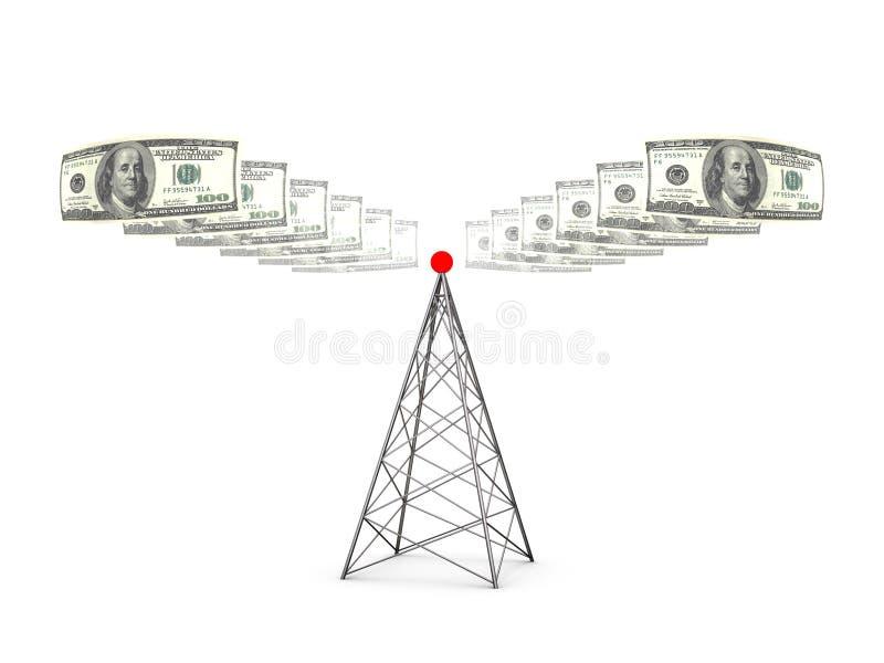 De afzender van dollars vector illustratie