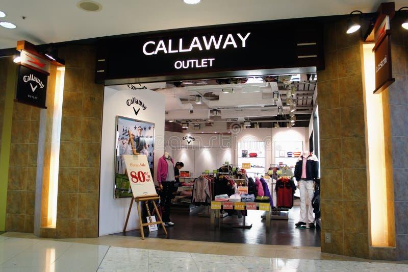 De Afzet van Callaway, Hongkong royalty-vrije stock foto's