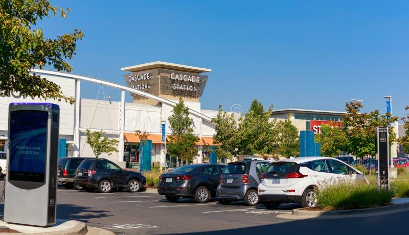 De Afzet van de cascadepost, die een Winkelcentrum, dichtbij de Internationale Luchthaven van Portland is royalty-vrije stock foto's