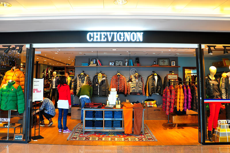 De afzet van Chevignon in Hongkong royalty-vrije stock foto
