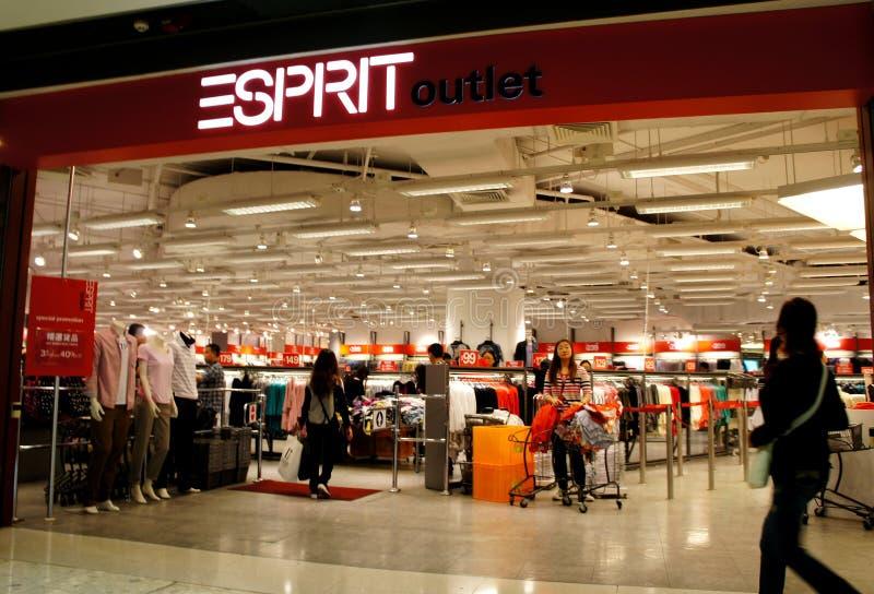 De Afzet van ESPRIT, Hongkong stock foto's