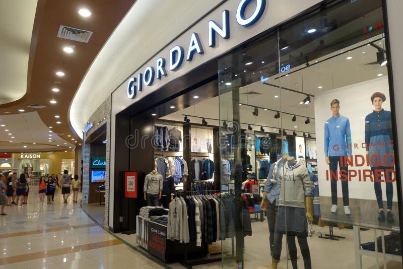 De afzet van Giordano in een supermarkt royalty-vrije stock fotografie