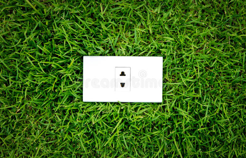 De afzet van het energieconcept in de verse lente stock foto's