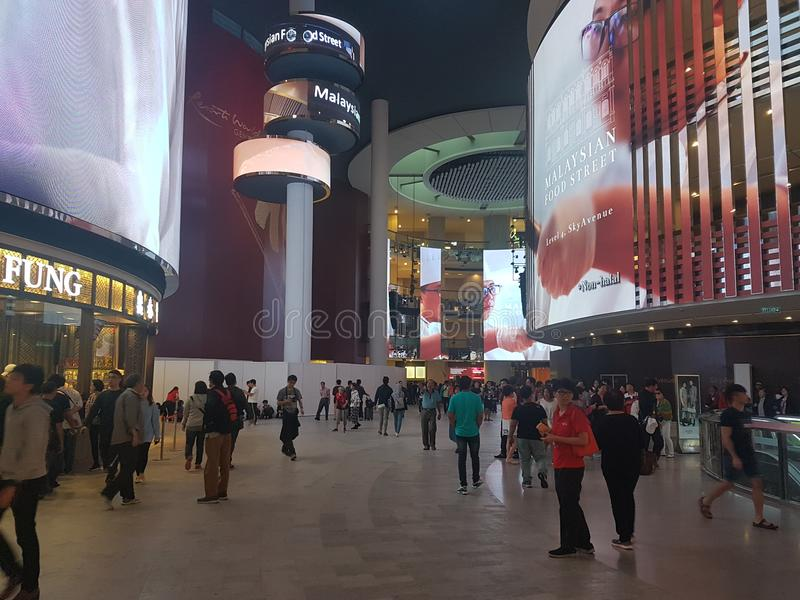 7 de Afzet van de het Hooglandpremie van Genting van januari 2018, Kuala Lumpur De afzet van premief& B was de nieuwe aantrekkeli stock afbeeldingen