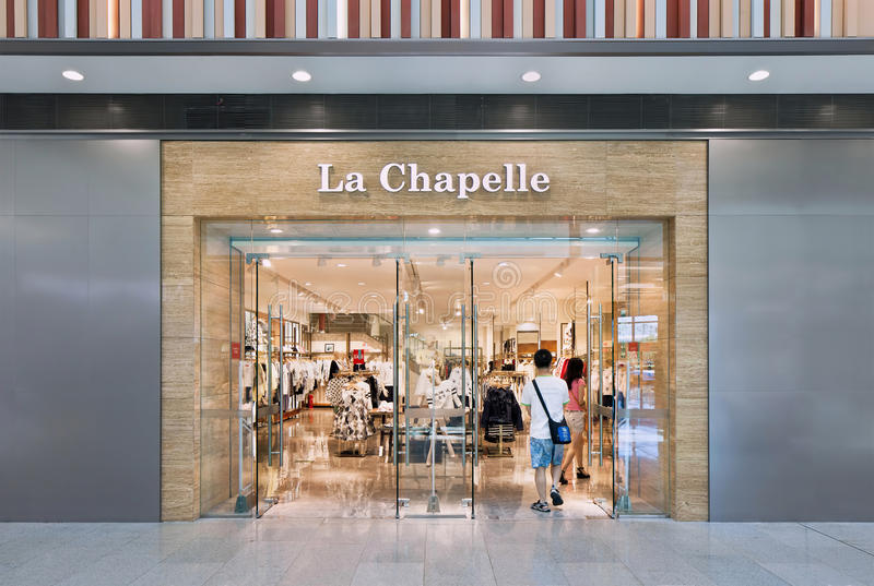 De afzet van La Chapelle, Livat-Winkelcomplex, Peking, China royalty-vrije stock foto