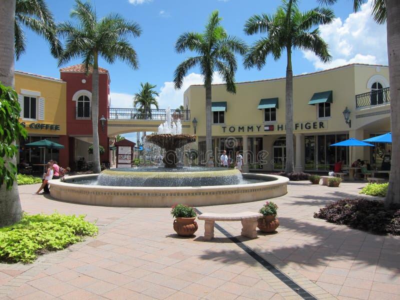 De Afzet van Miromar in Estero, Florida stock foto