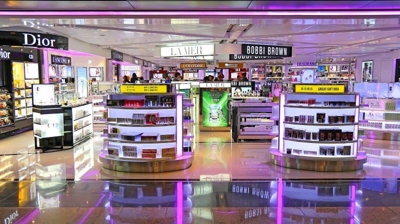 De afzet van schoonheidsverzorgingproducten, Hongkong stock afbeeldingen