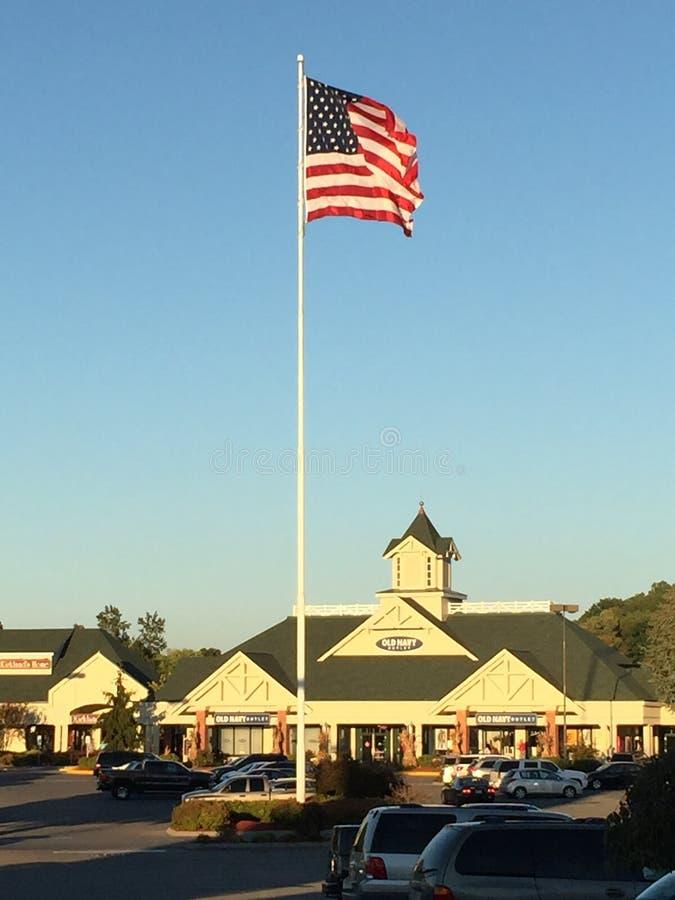 De Afzet van Tanger in Sevierville, Tennessee stock afbeelding