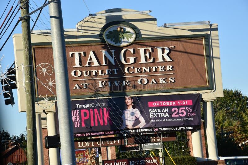 De Afzet van Tanger in Sevierville, Tennessee stock afbeeldingen