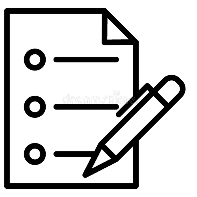 De agenda isoleerde Vectorpictogram dat zich gemakkelijk kan wijzigen stock illustratie