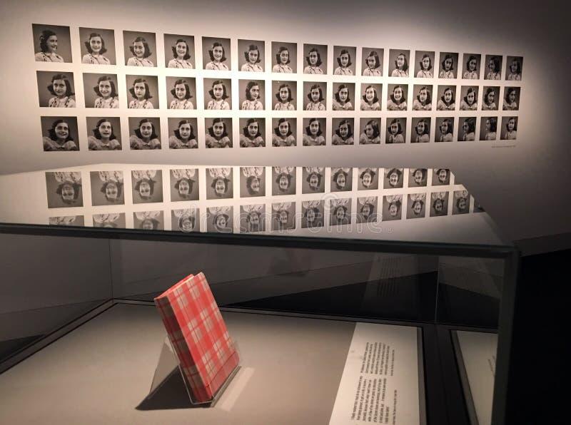 De Agenda van Anne Frank stock foto