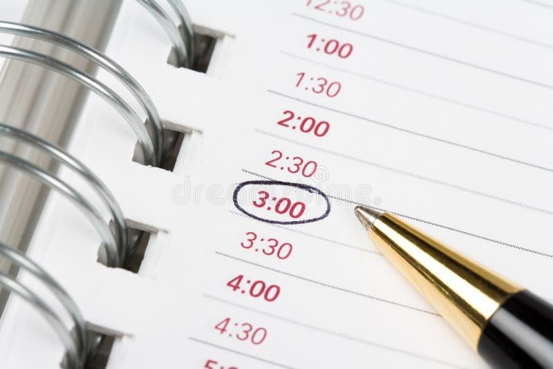 De agenda van de kalender stock foto