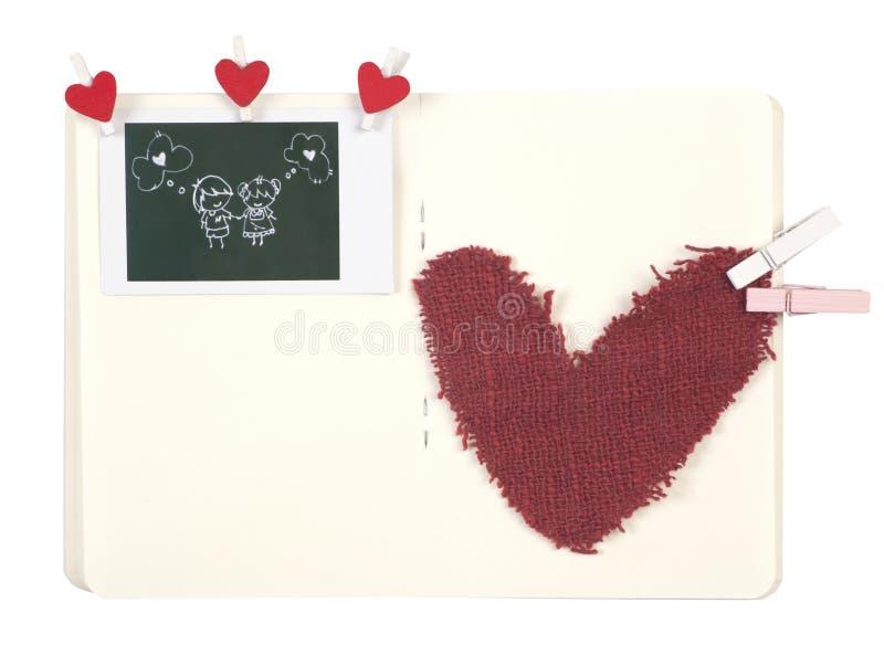 De agenda van de liefde stock foto