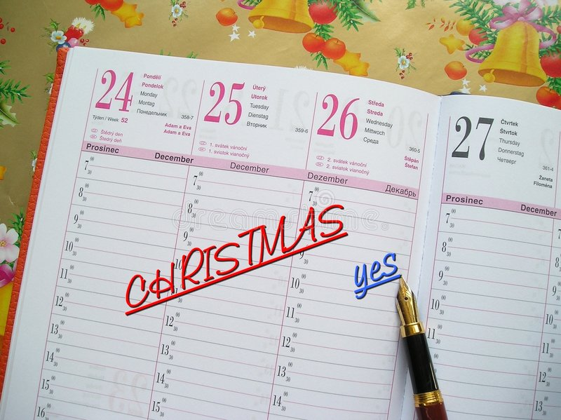 De agenda van Kerstmis stock illustratie