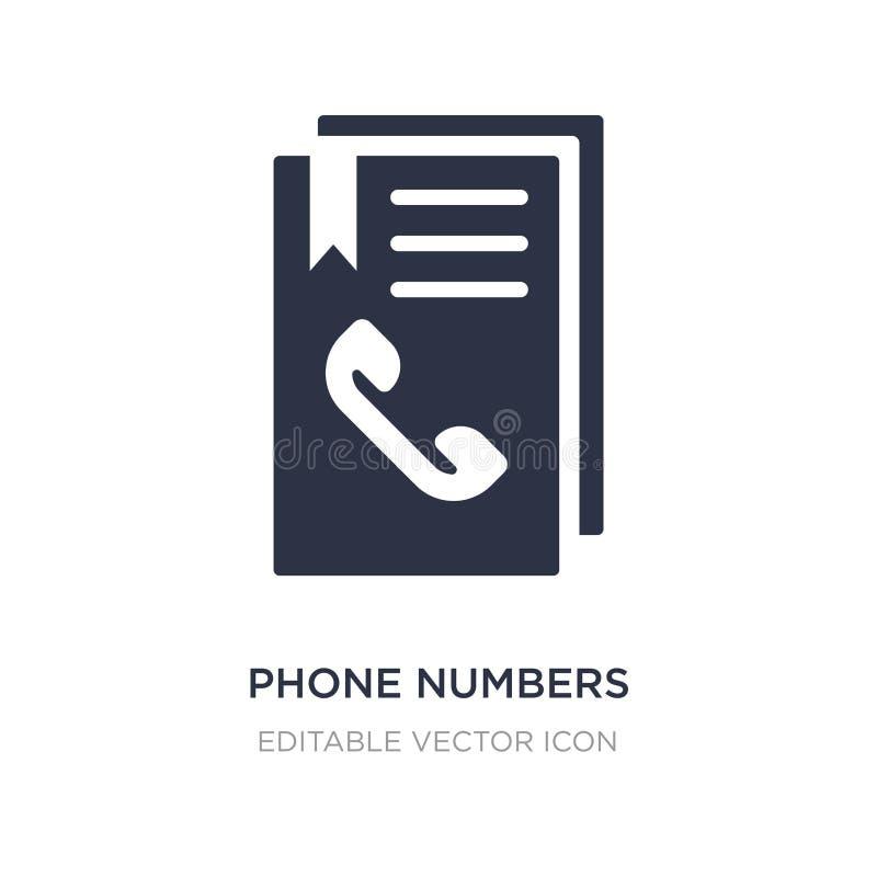 de agendapictogram van telefoonaantallen op witte achtergrond Eenvoudige elementenillustratie van Algemeen concept stock illustratie