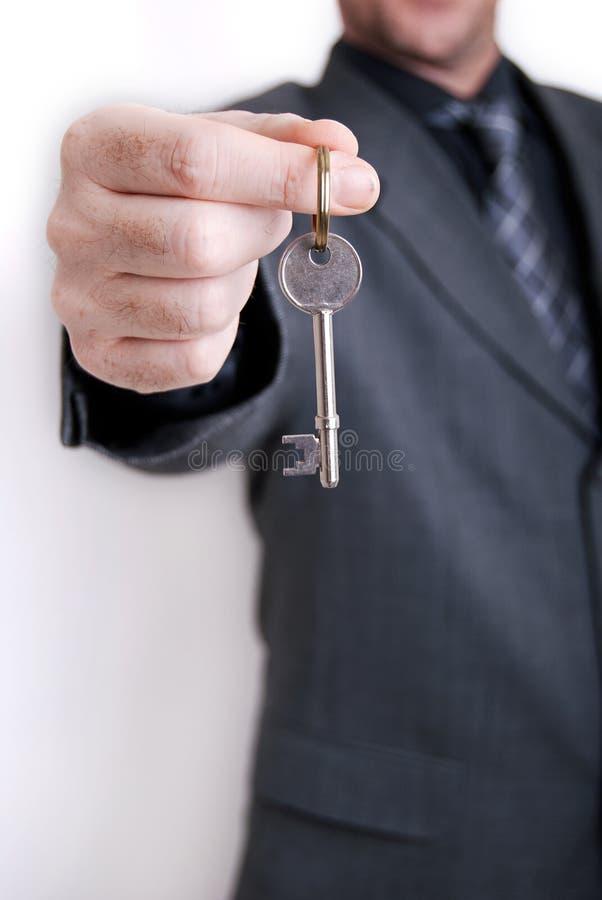 De agenten van het bedrijfs landgoed mens stock foto's