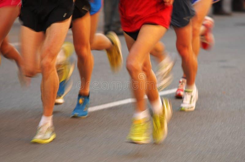 De agentenbenen van de marathon royalty-vrije stock foto
