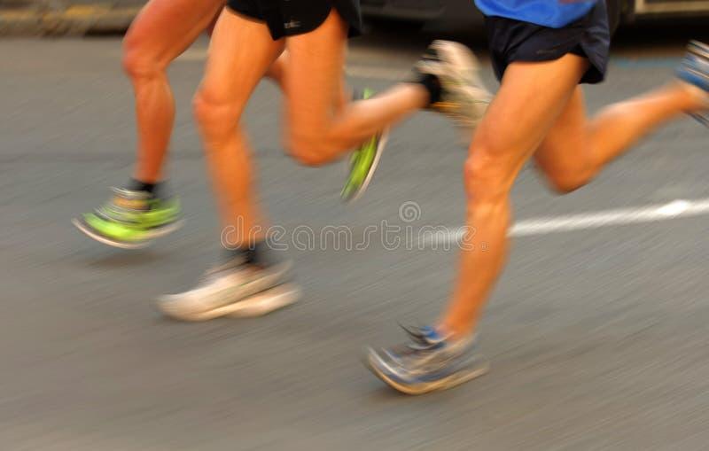 De agentenbenen van de marathon royalty-vrije stock afbeeldingen