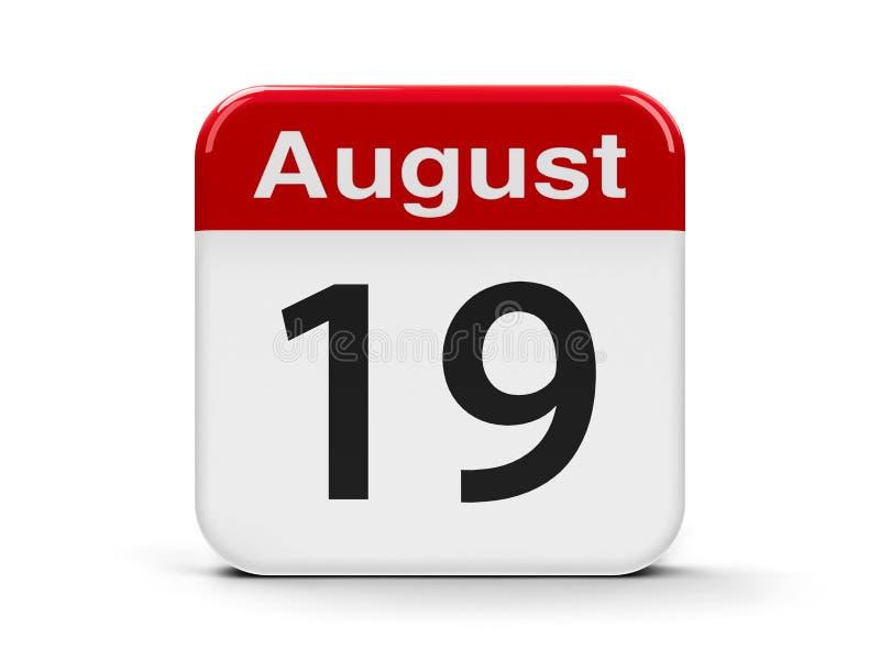 19 de agosto ilustração stock