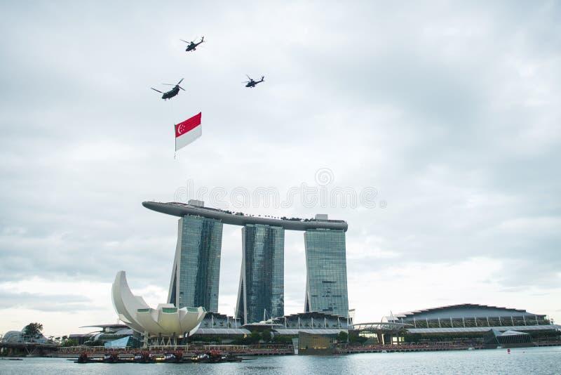9 de agosto de 2014: Dia nacional de Singapura fotografia de stock royalty free