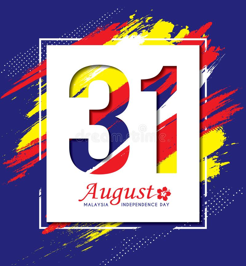 31 de agosto - Dia da Independência de Malásia ilustração do vetor